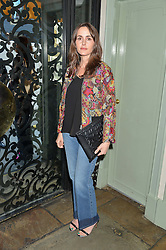 TANIA FARES at a dinner hosted by Kate Spade NY to celebrate Chelsea in Bloom held at Daphne's, 112 Draycott Avenue, London on 20th May 2015.
