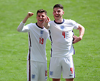 Football - 2021 EUFA European Championships - Finals - Group D - England vs Croatia, Wembley Stadium<br /> <br /> Mason Mount and Declan Rice of England spot family in the crowd after the match<br /> <br /> Credit : COLORSPORT/Andrew Cowie