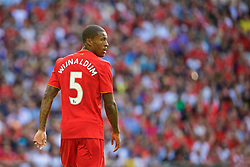 LONDON, ENGLAND - Saturday, August 6, 2016: Liverpool's Georginio Wijnaldum in action against Barcelona during the International Champions Cup match at Wembley Stadium. (Pic by Xiaoxuan Lin/Propaganda)