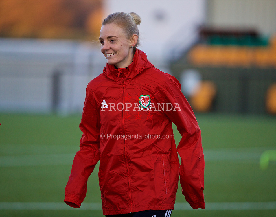 SLOUGH, ENGLAND - Sunday, February 25, 2018: Wales' captain Sophie Ingle during at training session at Slough Town's Arbour Park ahead of the Cyprus Cup tournament. (Pic by David Rawcliffe/Propaganda)