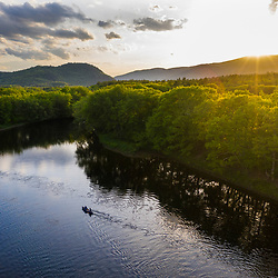Paddlers on the Androscoggin River in West Bethel, Maine.