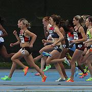 The start of the Women's 1500m race during the Diamond League Adidas Grand Prix at Icahn Stadium, Randall's Island, Manhattan, New York, USA. 25th May 2013. Photo Tim Clayton