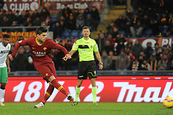 December 26, 2018 - Rome, Italy - Diego Perotti of Roma scores the penalty of 1-0 during the Serie A match between Roma and Sassuolo at Stadio Olimpico, Rome, Italy on 26 December 2018. (Credit Image: © Federica Roselli/NurPhoto via ZUMA Press)