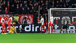 23-11-2019 NED: FC Utrecht - AZ Alkmaar, Utrecht<br /> Round 14 / Oussama Idrissi #11 of AZ Alkmaar scores 2-0, Maarten Paes #16 of FC Utrecht, Willem Janssen #14 of FC Utrecht, Joris van Overeem #8 of FC Utrecht, Justin Hoogma #3 of FC Utrecht
