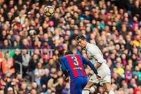 FC Barcelona's Gerard Pique , Real Madrid's Cristiano Ronaldo during spanish La Liga match between Futbol Club Barcelona and Real Madrid  at Camp Nou Stadium in Barcelona , Spain. Decembe r03, 2016. (ALTERPHOTOS/Rodrigo Jimenez)