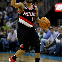 March 30, 2011; New Orleans, LA, USA; Portland Trail Blazers point guard Patrick Mills (8) against the New Orleans Hornets during the third quarter at the New Orleans Arena. The Hornets defeated the Trail Blazers 95-91.   Mandatory Credit: Derick E. Hingle