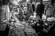 Watermelon stall in Kashgar market, far western China