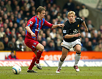 Photo. Chris Ratcliffe, Digitalsport<br /> Crystal Palace v Manchester United. Barclays Premiership. 05/03/2005<br /> Alan Smith pushes the ball past Danny Granville of Palace.