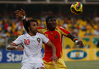 Photo: Steve Bond/Richard Lane Photography.<br />Guinea v Morocco. Africa Cup of Nations. 24/01/2008. Tarik Sektioui (L) and Oumar Kalabane (R) challange for the ball