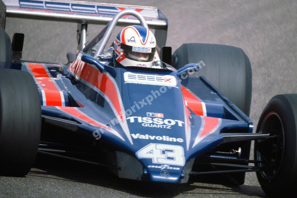 Nigel Mansell (Lotus-Ford) during the 1980 Dutch Grand Prix in Zandvoort. Photo: Grand Prix Photo