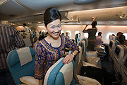 "Airbus A380 first commercial flight - Singapore Airlines SQ 380 Singapore-Sydney on October 25, 2007. ""Singapore Girl, you're a great way to fly!"""