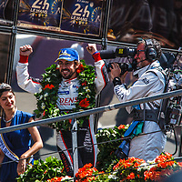 The winner Fernando AlonsoToyota Gazoo Racing, on 17/06/2018 at the 24H of Le Mans, 2018
