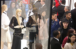 © Licensed to London News Pictures. 26/12/2015. London, UK. First shoppers arrive at Selfridges, Oxford Street, central London, on Boxing Day sales. Photo credit : LNP