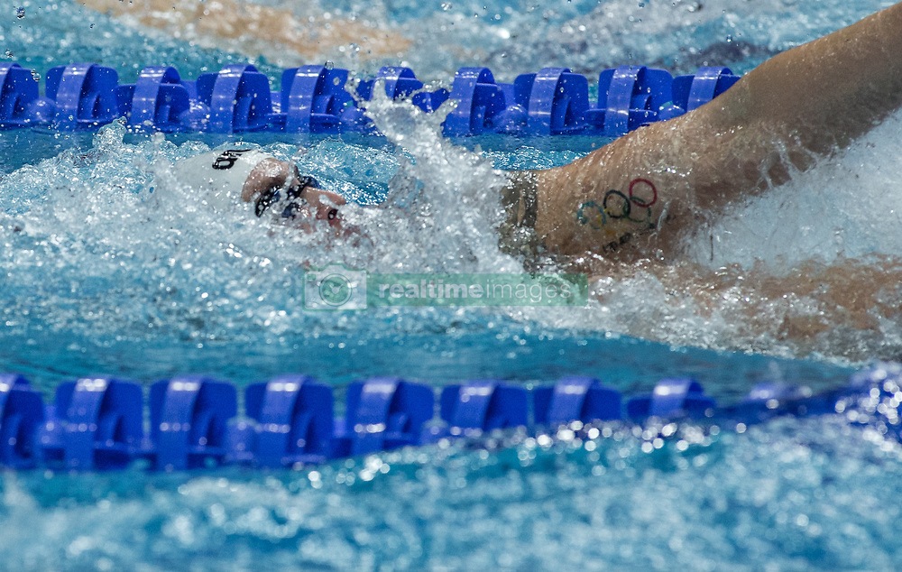 October 4, 2018 - Budapest, Hungary - Larkin Mitchell of Australia competes in the Mens 200m Backstroke on day one of the FINA Swimming World Cup held at Duna Arena Swimming Stadium on Okt 04, 2018 in Budapest, Hungary. (Credit Image: © Robert Szaniszlo/NurPhoto/ZUMA Press)