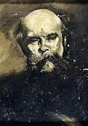 Paul Verlaine (1844-1896) French poet.  Anonymous portrait.