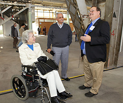 Vallejo  City council member Joanne Shivley,  Lou Delgado and Paul Roberts were on hand as Blu Homes opened their West Coast factory on Mare Island in Vallejo, California Dec. 1, 2011.  Over 400 guests attended a ribbon cutting ceremony at the 250,000-square-foot facility.