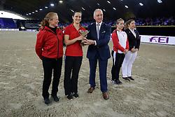Boe Kristina, GER, Lunger Rosiny Barbara<br /> CVI World Cup Vaulting<br /> Vlaanderens Kerstjumping Memorial Eric Wauters<br /> © Dirk Caremans<br /> 27/12/2016