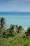 In this view from Humacao, the offshore Puerto Rican island of Vieques can be seen on the horizon.