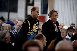 © London News Pictures. 18/06/2015. London, UK. Image of HRH Prince Edward during a service of commemoration at St Paul's Cathedral to mark the 200th Anniversary of the Battle of Waterloo.  Photo credit: Corporal Andy Reddy/LNP