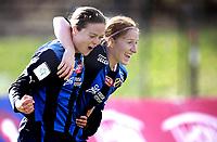 Fotball<br /> Toppserien<br /> Nadderud Stadion 24.04.10<br /> Stabæk - Fløya<br /> Lise Klaveness feirer scoring med  Ingrid Fosse Sæthre<br /> <br /> Foto: Eirik Førde