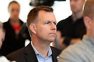 CARY, NC - FEBRUARY 28: North Carolina FC (USL, NWSL) president and general manager Curt Johnson. The United States Men's National Team held a press conference on February 28, 2018 at Sahlen's Stadium at WakeMed Soccer Park in Cary, NC to preview an international friendly they will be playing in the stadium on March 27th.