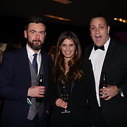 Westminster, UK. 20th Apr, 2017. Mark Hamilton & Joanne salley & Chris Webb  - glove box attends The annually National UK Blog Awards at Park Plaza Westminster Bridge, London. by See Li