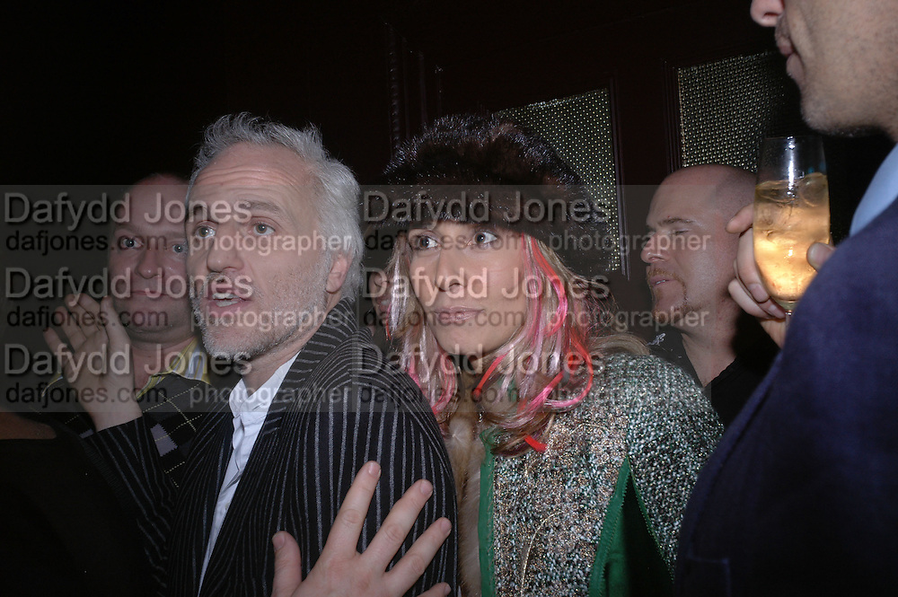 Mourad Mazouz and Tara Bernerd. Jay Jopling and White Cube host a post Frieze opening party at Sketch. London. 20 October 2005. ONE TIME USE ONLY - DO NOT ARCHIVE © Copyright Photograph by Dafydd Jones 66 Stockwell Park Rd. London SW9 0DA Tel 020 7733 0108 www.dafjones.com
