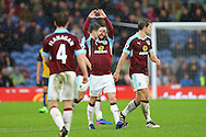 Steven Defour of Burnley (c) celebrates with his teammates after scoring his teams 2nd goal. The Emirates FA cup 4th round match, Burnley v Bristol City at Turf Moor in Burnley, Lancs on Saturday 28th January 2017.<br /> pic by Chris Stading, Andrew Orchard Sports Photography.