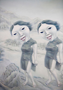 A detail from a painting by Ma Ye in Sally Liu's Gallery.