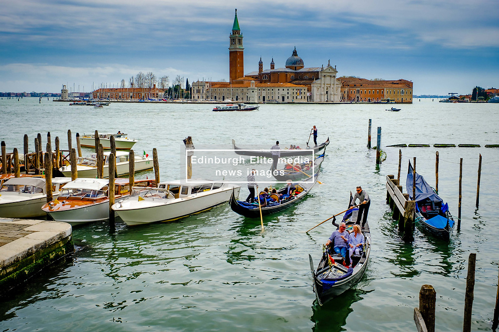 Gondolas on the Grand Canal near St. Mark's Square (Piazza San Marco) in Venice, Italy<br /> <br /> (c) Andrew Wilson   Edinburgh Elite media