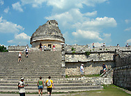 People can still climb on El Caracol , the Observatory at Chichen Itza,  a World Heritage site on the Yucatan Peninsula of Mexico, photographed on May 22, 2007. (Cindi Christie photo) OK  to share with MediaNewsGroup newspapers and MCT Photo. No Sales.