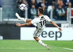 September 26, 2018 - Turin, Italy - Juventus v Bologna - Serie A .Paulo Dybala of Juventus scores the goal of 1-0 at Allianz Stadium in Turin, Italy on September 26, 2018. (Credit Image: © Matteo Ciambelli/NurPhoto/ZUMA Press)
