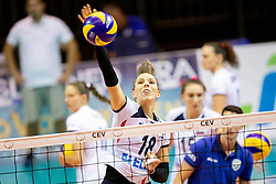 Sasa Planinsec of Slovenia during volleyball match between National teams of Slovenia and Belgium in 4th Qualification Round of 2019 CEV Volleyball Women's European Championship, on August 25, 2018 in Sports hall Tabor, Maribor, Slovenia. Photo by Urban Urbanc / Sportida