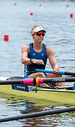 Poznan, POLAND, 21st June 2019, Friday, Morning Heats, USA1 W4- Victoria  OPITZ, FISA World Rowing Cup II, Malta Lake Course, © Peter SPURRIER/Intersport Images,<br /> <br /> 11:28:24