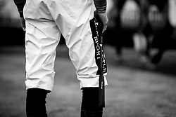 Jockey Thore Hammer Hansen holds his whip - Mandatory by-line: Robbie Stephenson/JMP - 19/08/2020 - HORSE RACING - Bath Racecourse - Bath, England - Bath Races