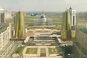 View from Bayterek Tower, landmark of Astana, Kazakhstan