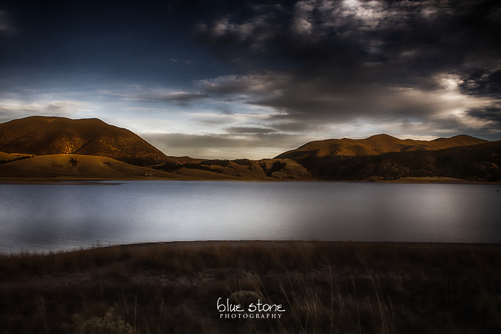 Sunset reveals the overlooked beauty of a mountain lake to represent how nature challenges one's perception of grandeur.<br /> <br /> Wall art is available in metal, canvas, float wrap and standout. Art prints are available in lustre, glossy, matte and metallic finishes.