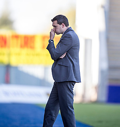 Dumbarton's manager Ian Murray.<br /> Falkirk 1v 1 Dumbarton, Scottish Championship game played 20/9/2014 at The Falkirk Stadium .