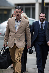 Paddy Doherty court 06/03/2014. Thursday, 6th March 2014. DAVID DOHERTY (left) , Patrick Doherty's son with Patrick behind . My Big Fat Gypsy Wedding star Patrick Doherty arrives at Manchester Crown Court . He is due to be sentenced for his part in a pub brawl in Shotton , Flintshire , last year . Doherty , who is currently serving a suspended sentence for another crime , could face a custodial sentence . Picture by Joel Goodman/i-Images