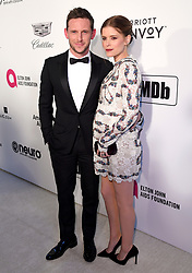 Jamie Bell and Kate Mara attending the Elton John AIDS Foundation Viewing Party held at West Hollywood Park, Los Angeles, California, USA.