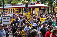 Take Em Down NOLA Second Line celebrating the removal of Confederate Monuments in New Orleans  that are slated to be taken down.