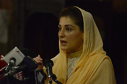 September 2, 2017 - Lahore, Punjab, Pakistan - Maryam Nawaz, daughter of former Prime Minister Pakistan Nawaz Sharif addresses to Christian community at St Anthony's Church as part of election campaign of her ailing mother Kalsoom Nawaz at NA-120. (Credit Image: © Rana Sajid Hussain/Pacific Press via ZUMA Wire)