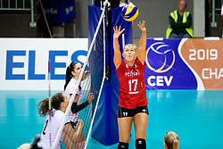 Ilka Van De Vyver of Belgium during volleyball match between National teams of Slovenia and Belgium in 4th Qualification Round of 2019 CEV Volleyball Women's European Championship, on August 25, 2018 in Sports hall Tabor, Maribor, Slovenia. Photo by Urban Urbanc / Sportida