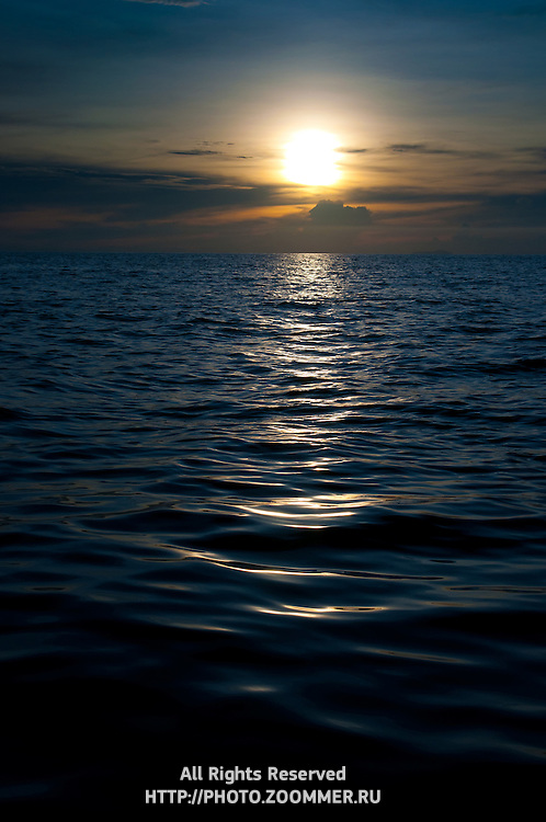 Sunset In Andaman Sea Near Phi-Phi Islands, Thailand