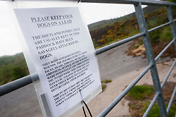 Sign on the gate at Moss Road, Totley where the two Shetland Ponys were attacked by dogs<br /> 21 May 2013<br /> Image © Paul David Drabble<br /> www.pauldaviddrabble.co.uk