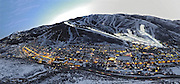 SHOT 3/2/17 6:45:27 PM - Aerial photos of Park City, Utah. Park City lies east of Salt Lake City in the western state of Utah. Framed by the craggy Wasatch Range, it's bordered by the Deer Valley Resort and the huge Park City Mountain Resort, both known for their ski slopes. Utah Olympic Park, to the north, hosted the 2002 Winter Olympics and is now predominantly a training facility. In town, Main Street is lined with buildings built primarily during a 19th-century silver mining boom that have become numerous restaurants, bars and shops. (Photo by Marc Piscotty / © 2017)