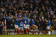 Portsmouth Players Celebrate after Portsmouth Midfielder, Ronan Curtis (11) scores to make it 2-0 during the EFL Sky Bet League 1 match between Portsmouth and Sunderland at Fratton Park, Portsmouth, England on 22 December 2018.