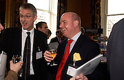 Rene Olivieri and Justin Fisher, Political Studies Association Awards 2004. Institute of Directors, Pall Mall. London SW1. 30 November 2004.  ONE TIME USE ONLY - DO NOT ARCHIVE  © Copyright Photograph by Dafydd Jones 66 Stockwell Park Rd. London SW9 0DA Tel 020 7733 0108 www.dafjones.com