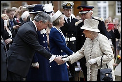 May 9, 2017 - London, London, United Kingdom - Image ©Licensed to i-Images Picture Agency. 09/05/2017. London, United Kingdom. HM the Queen visits Pangbourne College. ..Britain's Queen Elizabeth II and Britain's Prince Philip, Duke of Edinburgh visit  Pangbourne College, in Berkshire County on May 9, 2017 on the occasion of the school's centenary...Picture by  i-Images / Pool (Credit Image: © i-Images via ZUMA Press)