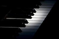 Spot highlighting of piano keys.